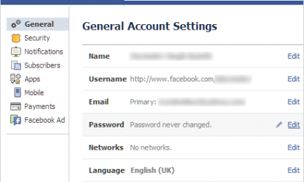 Guhindura Password zawe za facebook