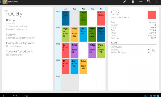 Panga gahunda z'amasomo neza na Timetable App